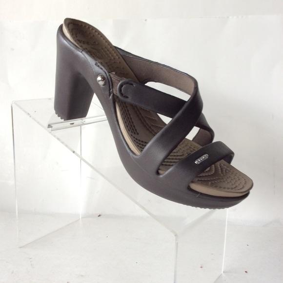 91fb43244 CROCS Shoes - Crocs Womens Cyprus V High Heel Size 7 Tan Brown